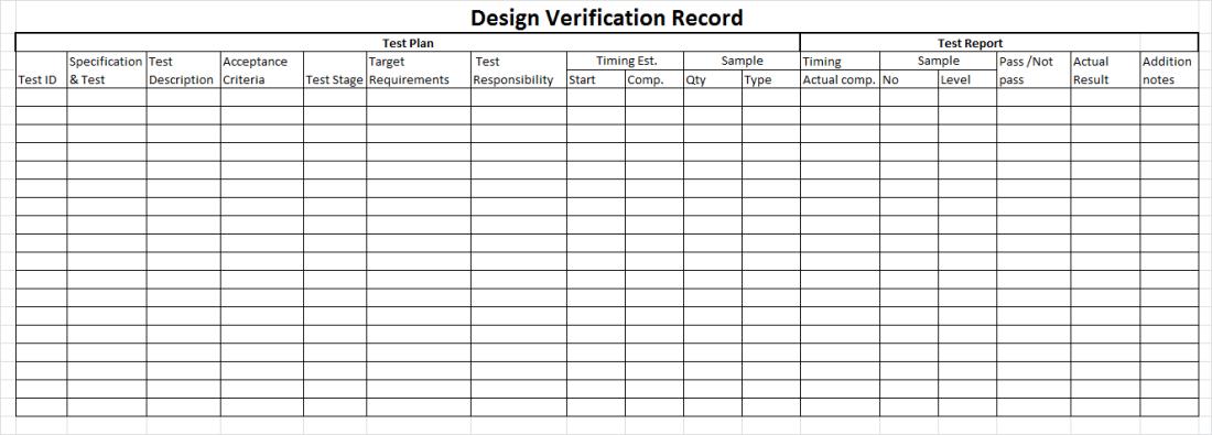 D & D verification record